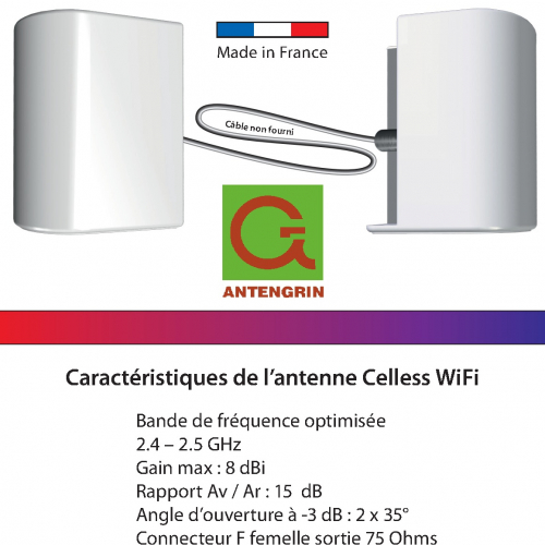 Celless wifi passif origine France