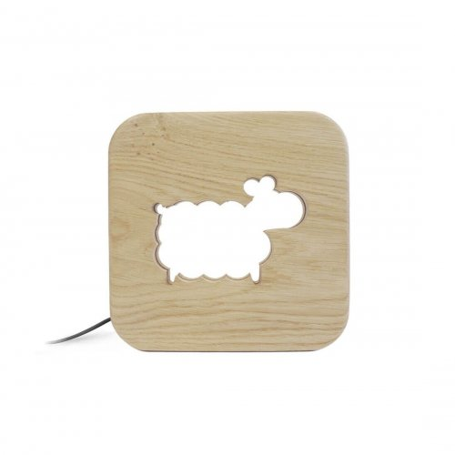 Veilleuse en bois kids Mouton - Blumen made in France