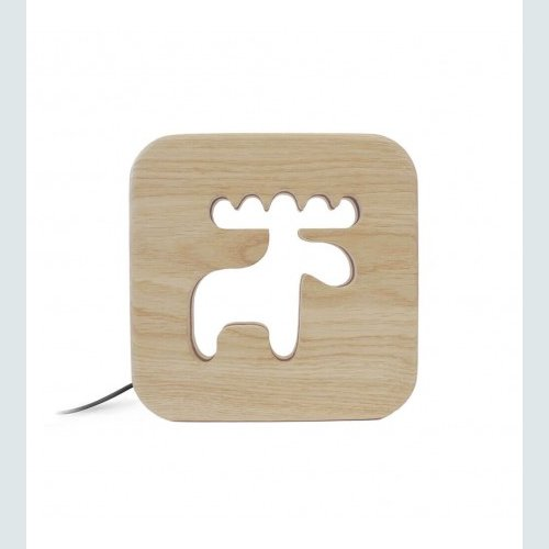 Veilleuse en bois kids Caribou - Blumen made in France