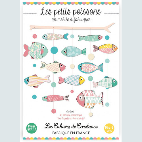 Mobile poissons « Pop pastel » à fabriquer made in France