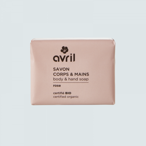 Savon corps & main Rose  100g - Certifié bio made in France