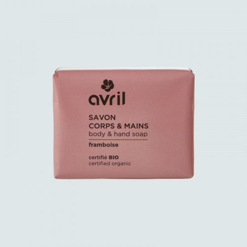 Savon corps & mains Framboise  100g - Certifié bio made in France
