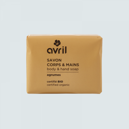Savon corps & mains Agrumes  100g - Certifié bio made in France