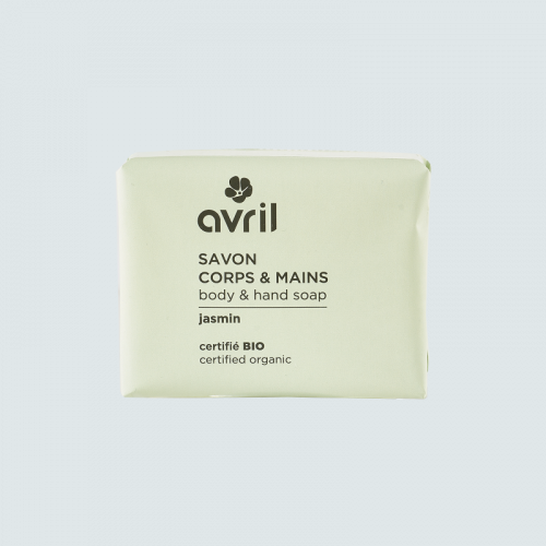 Savon corps & mains Jasmin  100g - Certifié bio made in France