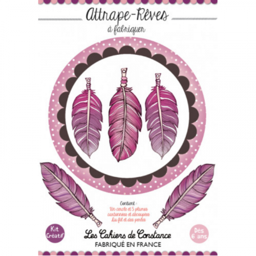 Attrape-rêves « Rose-violet » à fabriquer made in France