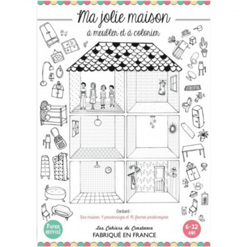 Jolie maison à colorier made in France