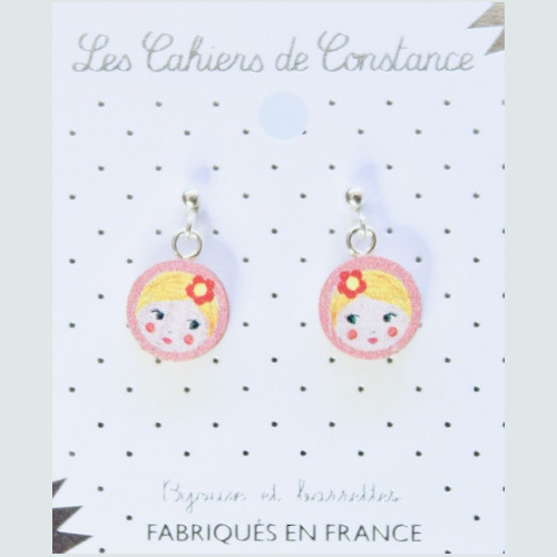 Boucles puces Matriochka origine France