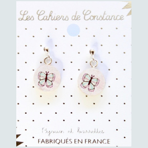 Boucles puces Papillon origine France