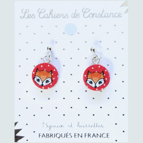 Boucles puces Renard origine France