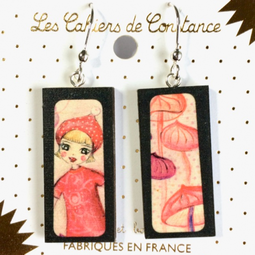 Boucles Rectangle Perinne origine France