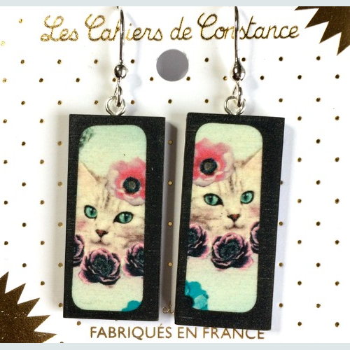 Boucles rectangle chat origine France