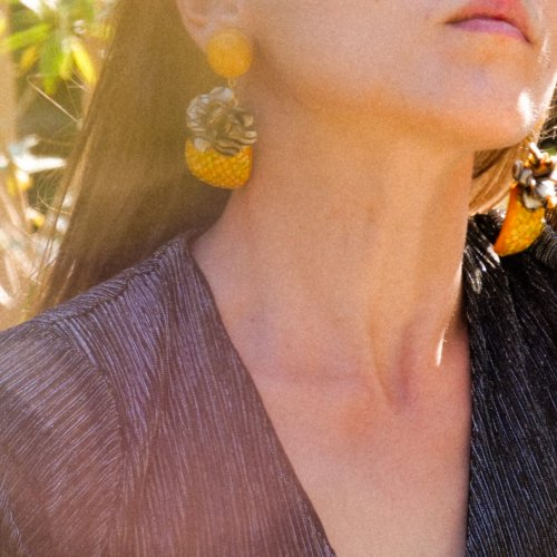 Maxi boucles Ananas made in France