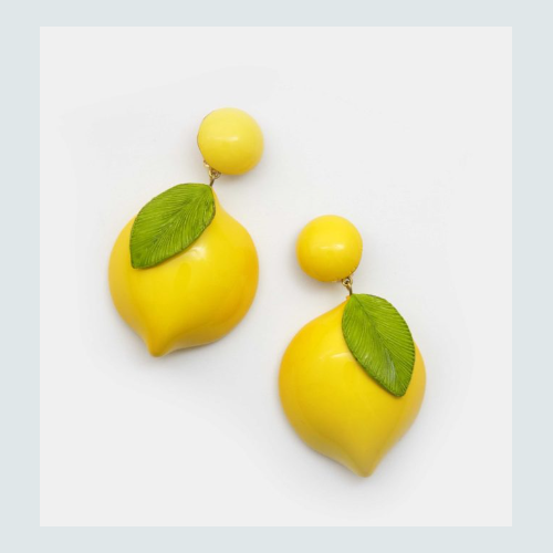 Maxi boucles citron made in France