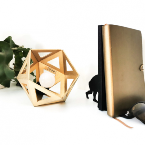 Petite Lampe Origami – or origine France