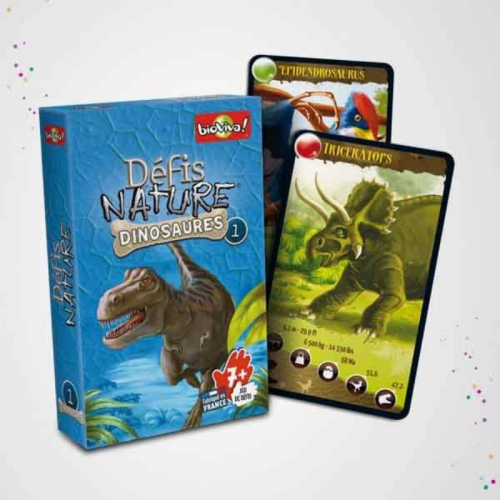 Jeu de cartes, défis nature - Dinosaures 1 made in France