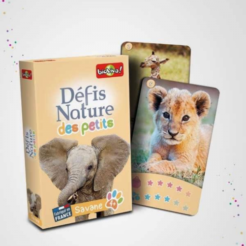 Jeu de cartes, défis nature des petits - Savane made in France