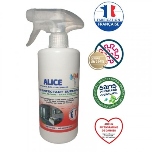 Désinfectant Surfaces en spray - 500ml made in France