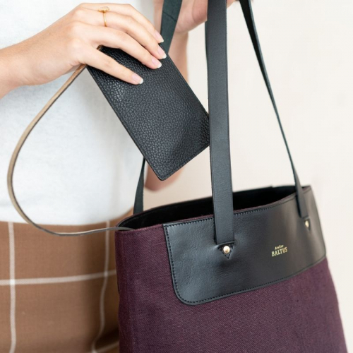 Sac Parfait / Lin prune made in France