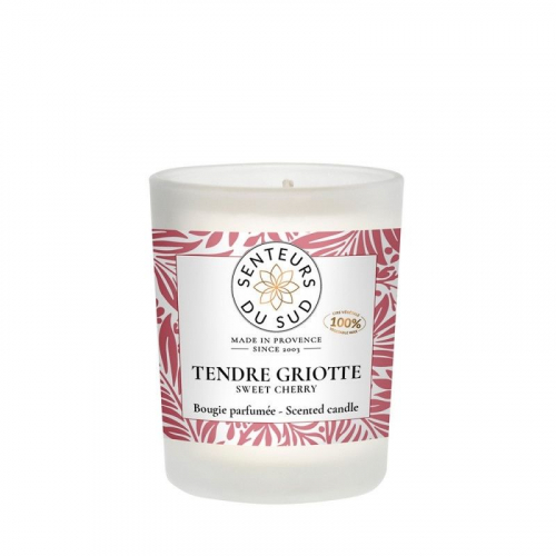 Bougie parfumée Tendre Griotte - 75g made in France