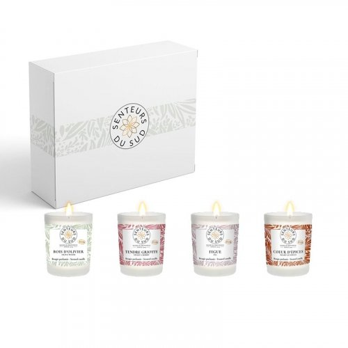 Coffret 4 bougies parfumées - 4 x 75g made in France
