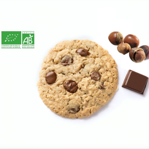 Cookie Chocolat Noir & Noisettes BIO made in France