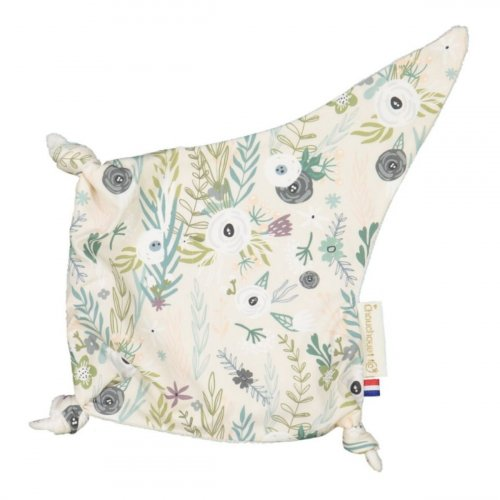 Doudou plat petits noeuds Flower Power made in France