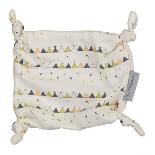 Doudou plat petits noeuds Tipis made in France