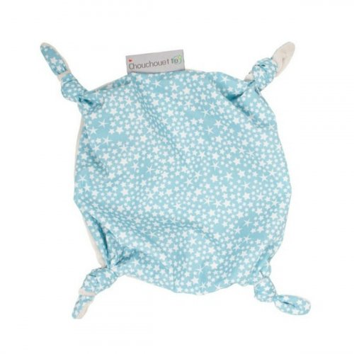 Doudou plat petits noeuds Constellation bleu made in France